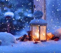 雪のランプ